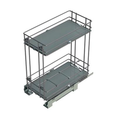 Estraibile 2 ripiani con portabottiglie per modulo da 30 cm