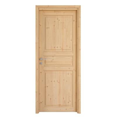 Porta da interno battente beethoven grezza 80 x h 210 cm for Leroy merlin maniglie porte