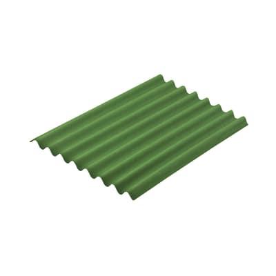 Lastra ondulata Onduline Easyline verde in bitume 76 x 100  cm, spessore 2,6 mm