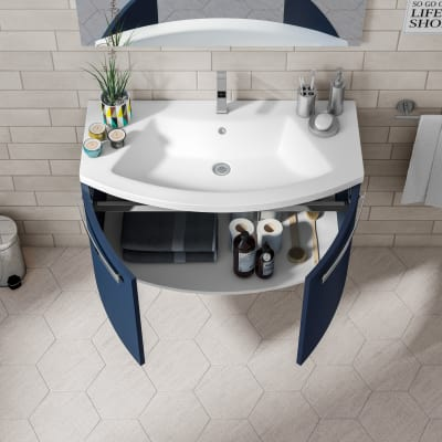 Mobile bagno Round blu navy L 95 cm