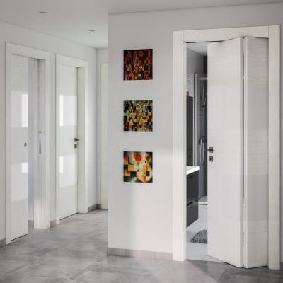 Porta da interno battente Melangè bianco 90 x H 210 cm dx