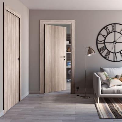 Porta da interno scorrevole Plank 90 x H 210 cm reversibile