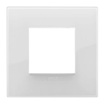 Placca 2 moduli Vimar Arké reflex ghiaccio