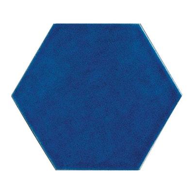 Piastrella Provenza Zaffiro 15 x 17,3 cm blu