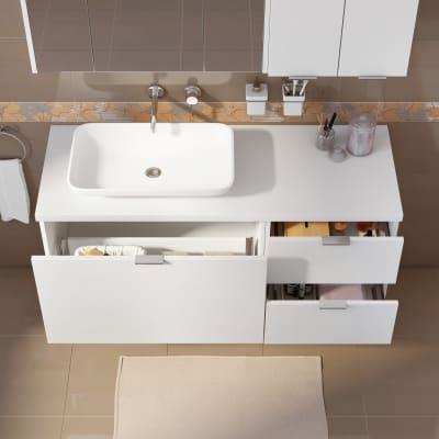 Mobile bagno Linea bianco L 135 cm