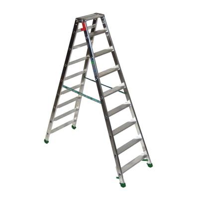 Scala doppia alluminio Facal 9 gradini, per lavori fino a 3 m