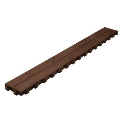 Listone polipropilene effetto legno 14,5 x 118  cm x 32  mm marrone