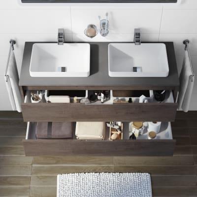 Mobile bagno Loto rovere scuro L 120 cm