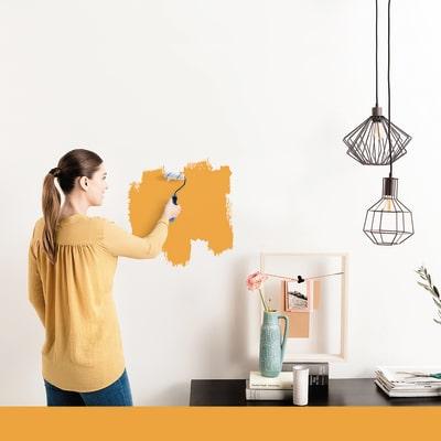 Tester idropittura murale Mano unica Arancio Arancio 5 Luxens