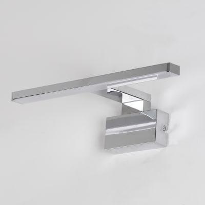 Luce da specchio Slim con kit multi attacco cromo 80 cm 7,8 W 580 Lumen led integrato IP44