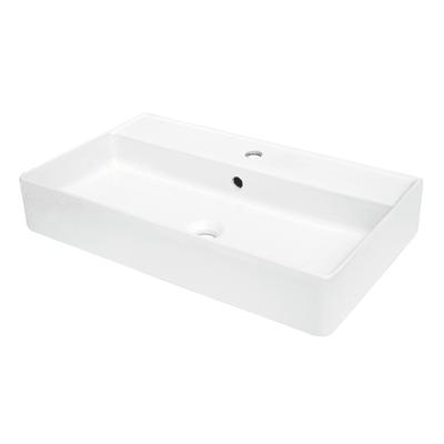 Lavabo da appoggio rettangolare Easy L 71 x P 12 x H  41,5 cm bianco