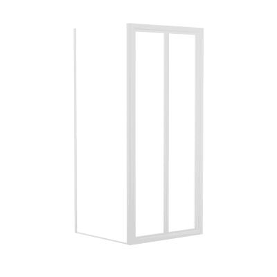Doccia con porta pieghevole e lato fisso Elba 78 - 84 x 78 - 82 cm, H 185 cm cristallo 3 mm piumato