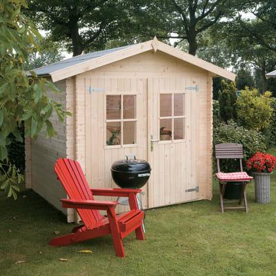 casetta in legno grezzo Dolly 3,45 m², spessore 18 mm
