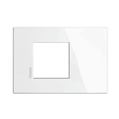 Placca 2 moduli BTicino Axolute Air bianco