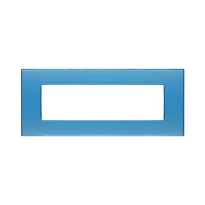 Placca 7 moduli BTicino Livinglight azzurro