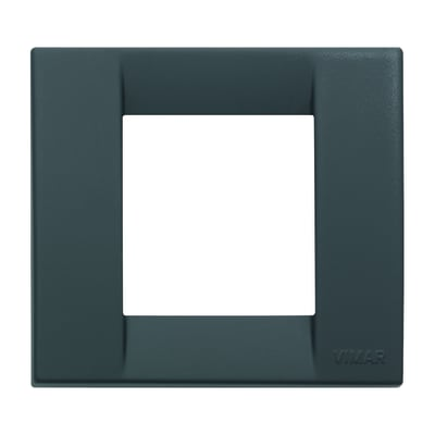 Placca 2 moduli Vimar nero