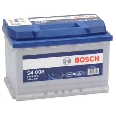 Batteria Bosch per auto, 74 Ah, S4 Spunto 680, 12 V