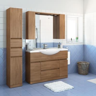 Mobile bagno elise rovere l 120 cm prezzi e offerte online - Mobile bagno 120 cm ...