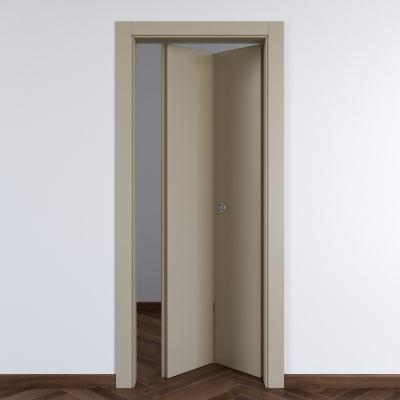 Porta da interno pieghevole Cinder grigio 80 x H 210 cm dx