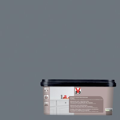 Smalto Multimateriale V33 grigio carbonio satinato 2 L