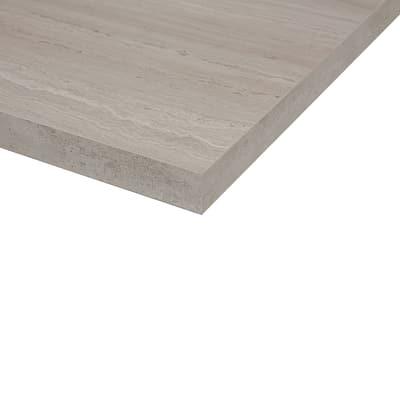Piano cucina su misura laminato Travertino Romano grigio 2 cm