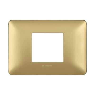 Placca 2 moduli BTicino Matix gold
