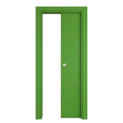 Porta da interno scorrevole Blades green verde 70 x H 210 cm reversibile