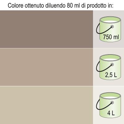 Colorante iperconcentrato ad acqua Bravo marrone bruno 20 ml