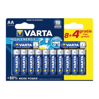 Pila alcalina stilo AA Varta High energy