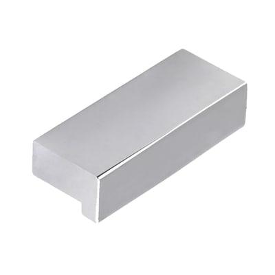 Maniglia per mobili argento Lucido interasse 32 mm
