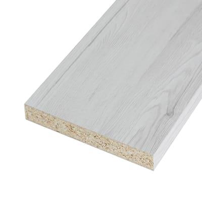 Pannello melaminico rovere bianco 25 x 600 x 2500 mm