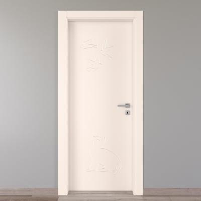 Porta da interno battente Catbird crema 60 x H 210 cm sx