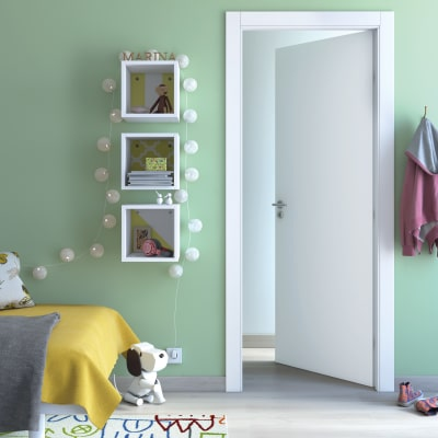 Porta da interno battente Cream bianco 70 x H 200 cm reversibile