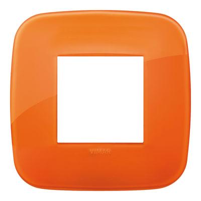 Placca 2 moduli Vimar Arké reflex orange