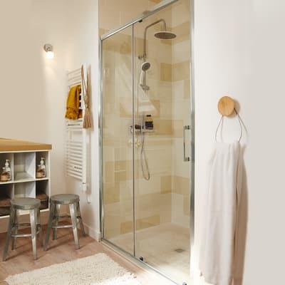Porta doccia scorrevole remix2 97 100 h 185 cm cristallo for Porta doccia a libro leroy merlin