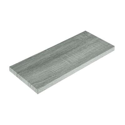 Mensola Spaceo rovere grigio L 76 x P 20, sp 2,2 cm