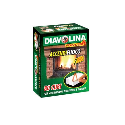 Cubi accendifuoco Diavolina 80 pezzi