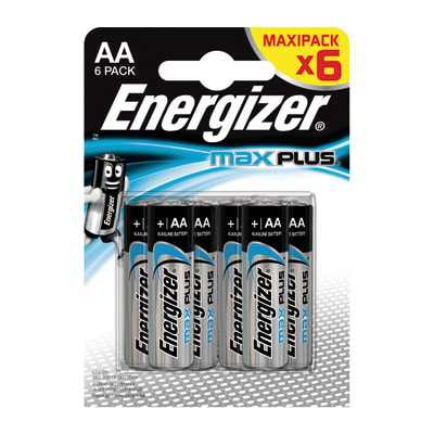 Batteria alcalina stilo AA Energizer Max Plus BP6